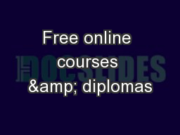 Free online courses & diplomas