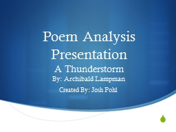Poem Analysis Presentation PowerPoint PPT Presentation