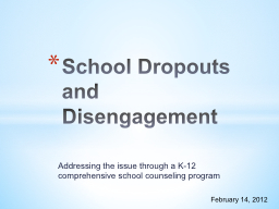 Addressing the issue through a K-12 comprehensive school co