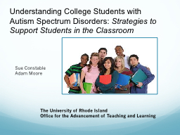 Understanding College Students with Autism Spectrum
