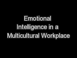 Emotional Intelligence in a Multicultural Workplace