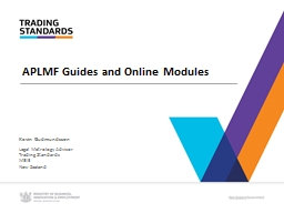 APLMF Guides and