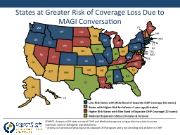 SOURCE: Analysis of 50-state survey of CHIP and Medicaid pr PowerPoint PPT Presentation