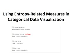 Using Entropy-Related Measures in Categorical Data Visualiz