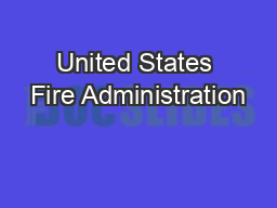 United States Fire Administration