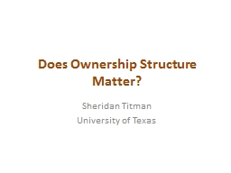 Does Ownership Structure Matter?