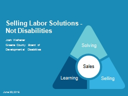 Selling Labor Solutions -