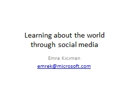 Learning about the world through social