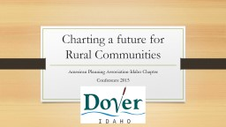 Charting a future for Rural Communities