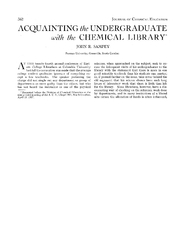 ACQUAINTING the UNDERGRADUATE with the CHEMICAL LIBRAR PowerPoint PPT Presentation