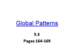 Global Patterns PowerPoint PPT Presentation