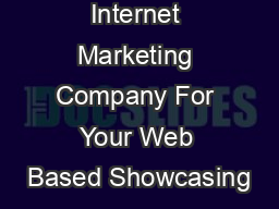 Internet Marketing Company For Your Web Based Showcasing