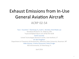 Exhaust Emissions from In-Use General Aviation Aircraft