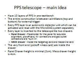 PPS telescope – PowerPoint PPT Presentation