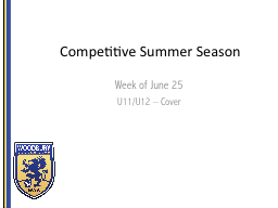 Competitive Summer