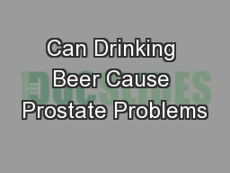 Drinking Water After Prostate Surgery
