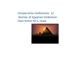 Comparative Civilizations 12