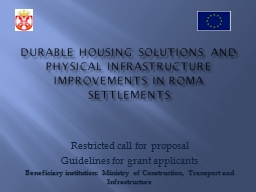 Durable housing solutions and physical infrastructure impro