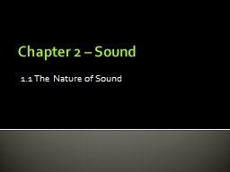 Chapter 2 – Sound