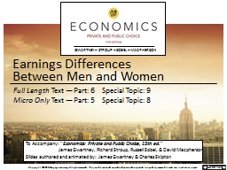 Earnings Differences