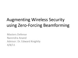 Augmenting Wireless Security using Zero-Forcing Beamforming