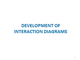 DEVELOPMENT OF INTERACTION DIAGRAMS PowerPoint PPT Presentation