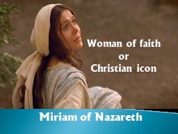 Woman of faith