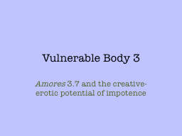 Vulnerable Body 3
