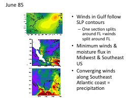 Winds in Gulf follow SLP contours PowerPoint PPT Presentation