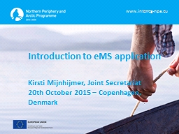 Introduction to eMS application PowerPoint PPT Presentation