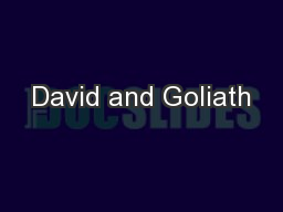 David and Goliath PowerPoint PPT Presentation
