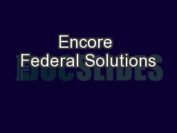 Encore Federal Solutions