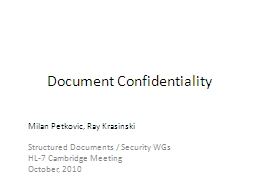 Document Confidentiality