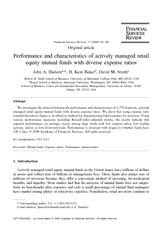 Original article Performance and characteristics of ac