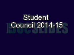 Student Council 2014-15 PowerPoint PPT Presentation