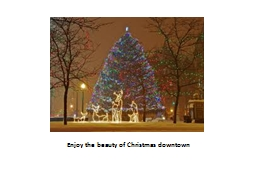 Enjoy the beauty of Christmas downtown