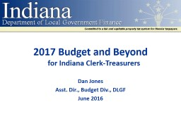 2017 Budget and Beyond PowerPoint PPT Presentation