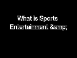 What is Sports Entertainment &