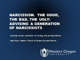 Narcissism. The Good, the Bad, the Ugly: Advising a Generat