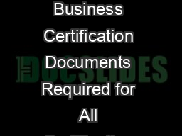 Small Woman and MinorityOwned SWaM Business Certification Documents Required for All Certification Applicants Code of Virginia