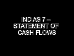 IND AS 7 – STATEMENT OF CASH FLOWS