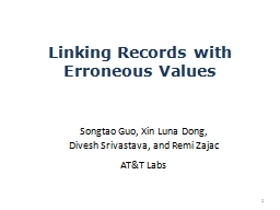 Linking Records with Erroneous Values