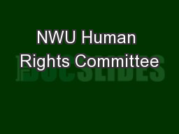 NWU Human Rights Committee