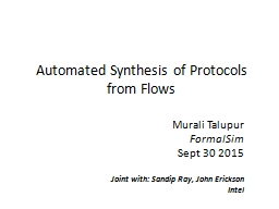 Automated Synthesis of Protocols from Flows