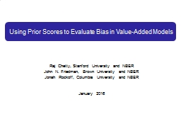 Using Prior Scores to Evaluate Bias in Value-Added Models