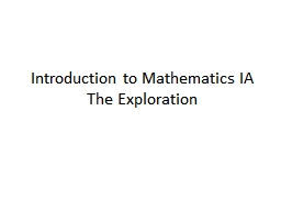 Introduction to Mathematics IA