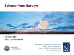 Science from Surveys PowerPoint PPT Presentation