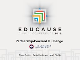 Partnership-Powered IT Change PowerPoint PPT Presentation