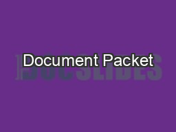 Document Packet PowerPoint PPT Presentation