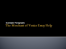 Merchant of venice essay help